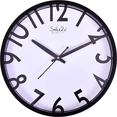 Smera 30 x 30 Bold Half Cut Numbers White Color dial Round Shape Wall Clock