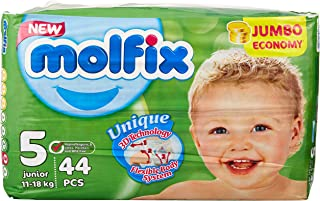 Molfix Anti Leakage Comfortable Junior Baby Diapers, 11-18 kg, 44 Count