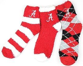 NCAA Alabama Crimson Tide 3 Piece Fuzzy Sock Bundle, Multicolor, One Size Fits Most