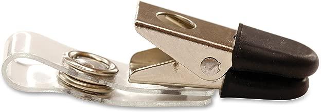 Sicurix Badge Clip, Premium Rubber Tip, Pack of 25