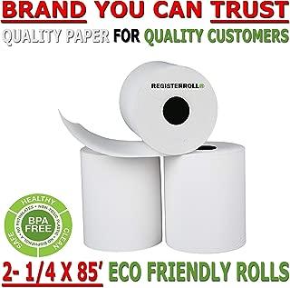 2-1/4 X 85ft Extra Large Thermal Paper Rolls Vx510 Vx570 FD50 T4220 FD130 FD50 FD400 FD55 FD100Ti BPA Free - Made in USA - RegisterRoll