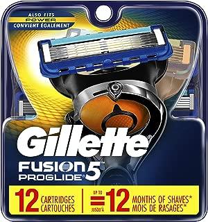 Gillette Fusion ProGlide Manual Men's Razor Blade Refills, 12 Count, Mens Razors/Blades