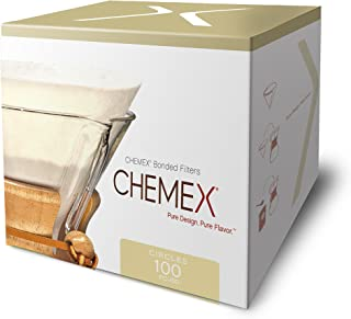 Chemex Bonded Coffee Filter, Circle, 100ct - Exclusive Packaging