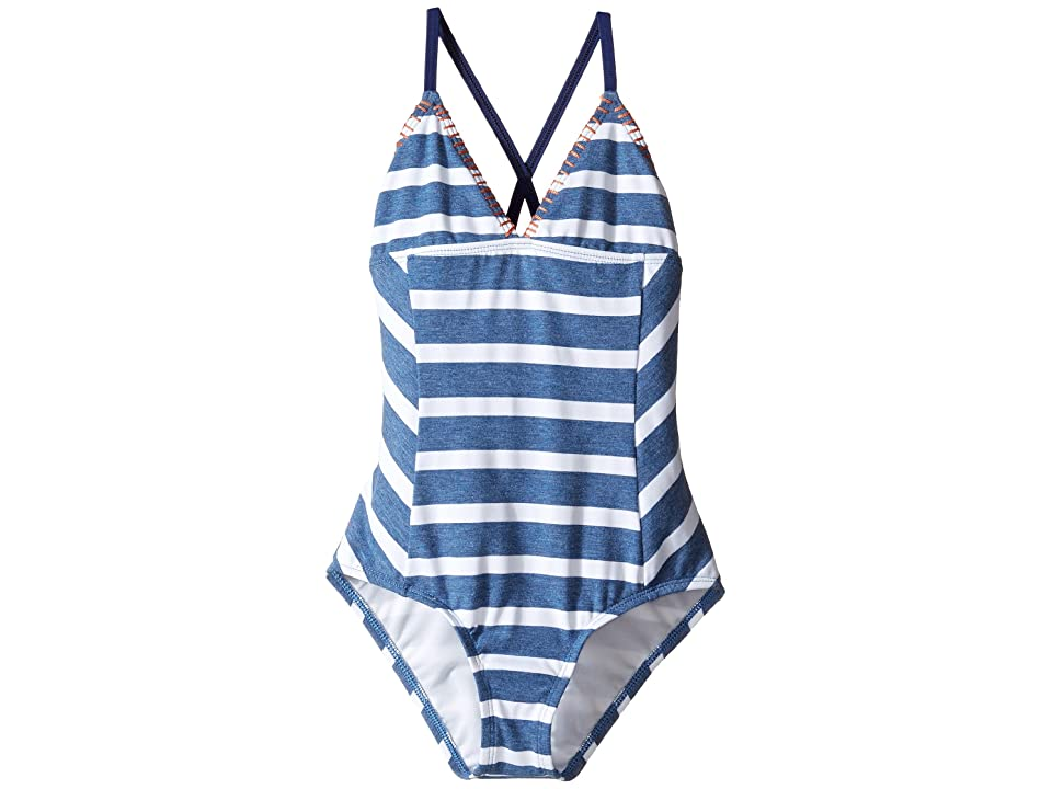 Splendid Littles Chambray Cottage One-Piece (Big Kids) (Blue) Girl