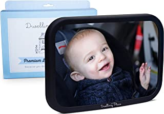 Baby Car Mirror for Rear Facing Car Seat - Shatterproof, Adjustable for Headrest