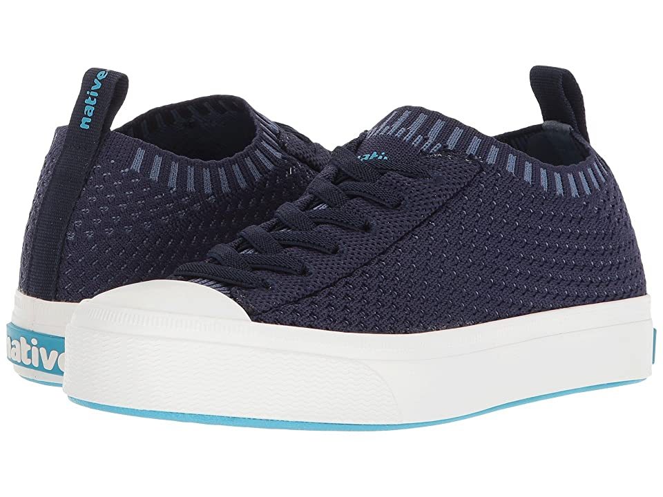 Native Kids Shoes Jefferson 2.0 Liteknit (Little Kid) (Regatta Blue/Shell White) Kids Shoes