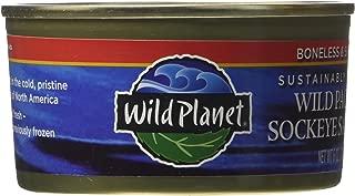 Wild Planet, Sockeye Salmon, Skinless & Boneless, 6 Ounce Can (Pack of 4)