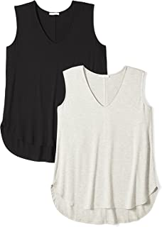 375ee940505b4 Daily Ritual Women s Plus Size Jersey V-Neck Tank Top