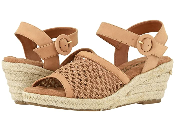 Walking Cradles  Avery (Dark Camel Nubuck/Crochet Fabric) Womens  Shoes