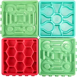 FiGoal 4 Pack Pet Snack Pad (Style 1) Dog & Puppies - Canine Slow Feeder Bowls for Dogs - Eating Control Dog Bowl - Slow F...