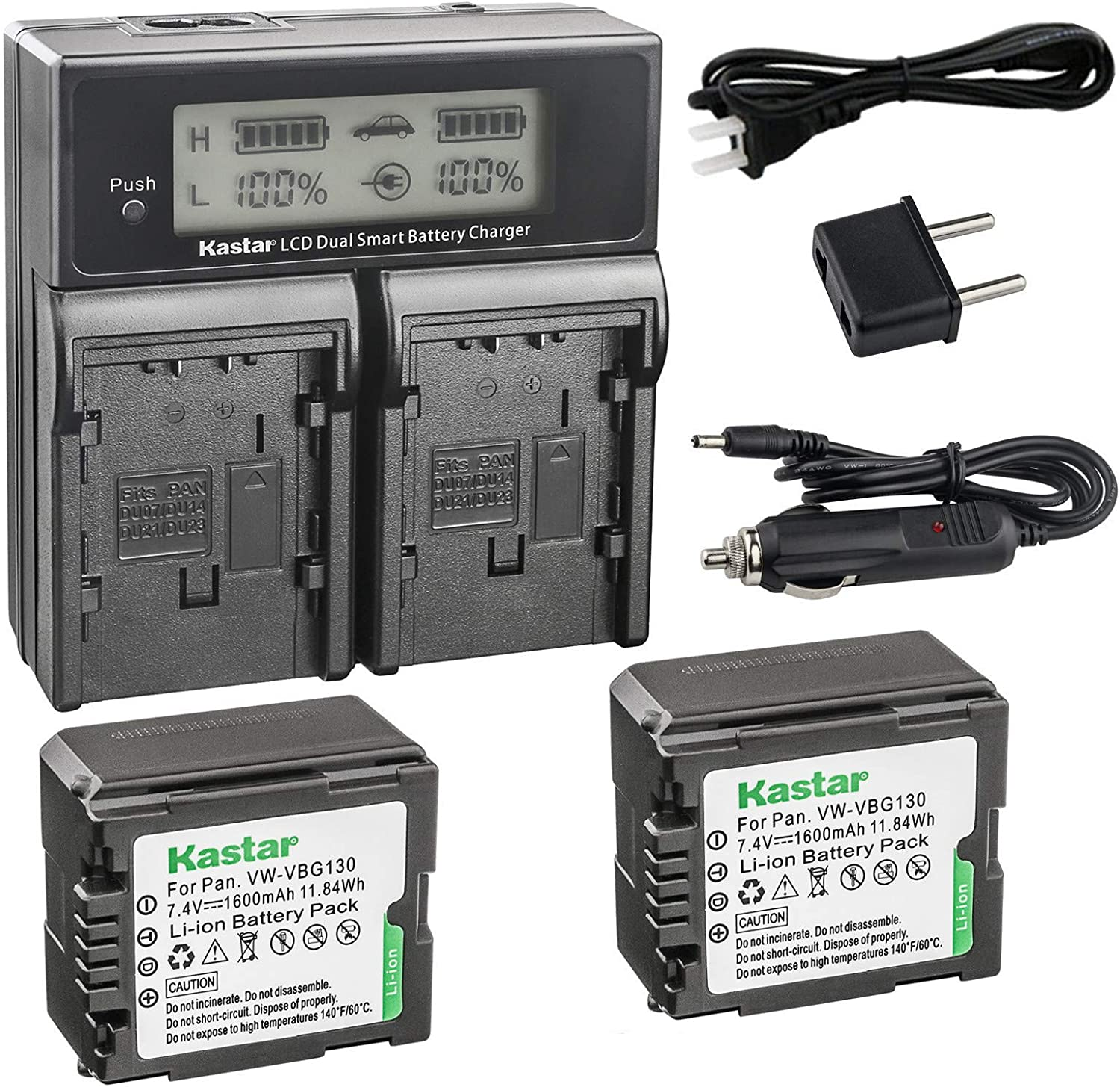 Kastar Max Ranking TOP12 60% OFF LCD Dual Smart Fast Charger Panasonic V 2 x Battery for