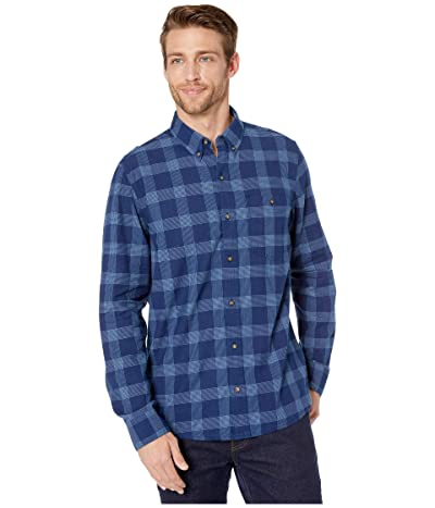 Toad&Co Mattock II Long Sleeve Shirt (Medium Indigo Windowpane) Men