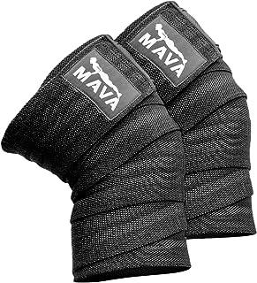 Mava Sports Knee Wraps (Pair) for Cross Training WODs,Gym...