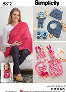 Simplicity Creative Patterns US8312OS Knit Baby Gifts & Nursing Shawl