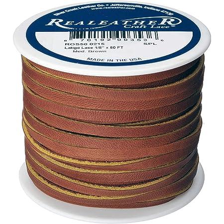 "Realeather Latigo Lace Spool, 1/8""x50', Medium Brown"