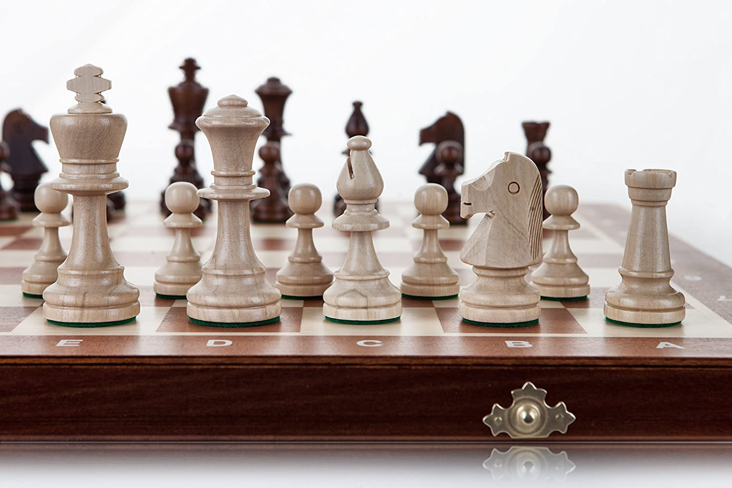 TOURNAMENT 5  Large 48cm   18.9in Handcrafted Wooden Chess Set Professional Staunton