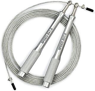Sportvitae Speed SV1.0 Comba de Velocidad Speed Rope Mangos Aluminio Ligeros y Cómodos Cable Ajustable Acero 3 MT - 2,5 mm...