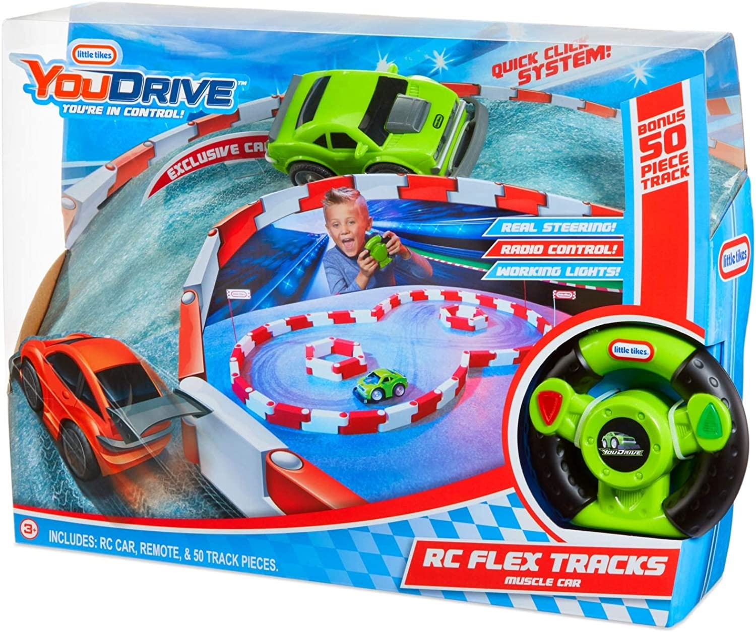 YouDrive Flex Tracks with RC Car [Colour May Vary] Englisch Version [648410]