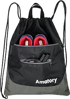 Drawstring Backpack String Bag Gym Sack Draw Sackpack Swimming Swim Athletic Sports Wrestling Snorkel Gymsack Gymnastics M...