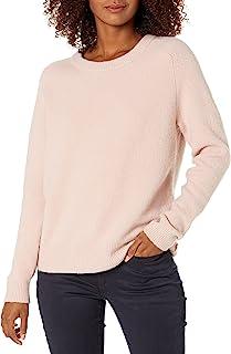 Daily Ritual Cozy Boucle suéter de Cuello Redondo Chamarra sin botón para Mujer