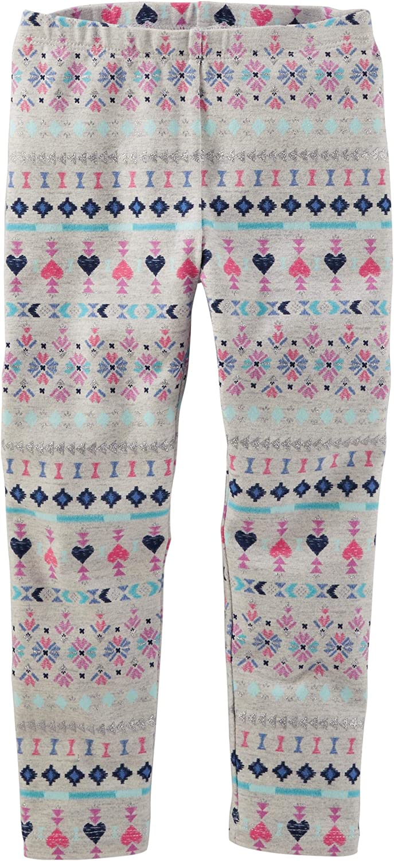 OshKosh Girls' Fair Isle Low price Leggings 9-12m Gray Max 47% OFF