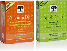 New Nordic Apple Cider Mega Strength 1000mg, 30 Tablets, and Zuccarin Diet w/Mulberry Leaf, 60 Tablets