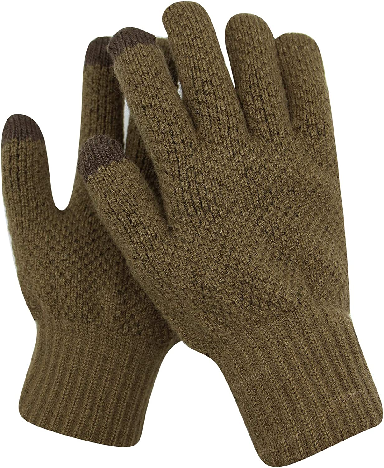 Women Multi-function Knitted Screen Winter Gloves Soft Warm Mitten for Smart phones Laptop Tablet