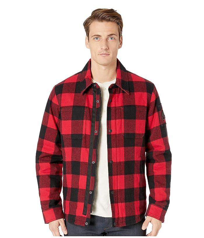 Moose Knuckles Ross Flannel Shirt Jacket (Red/Black) Men