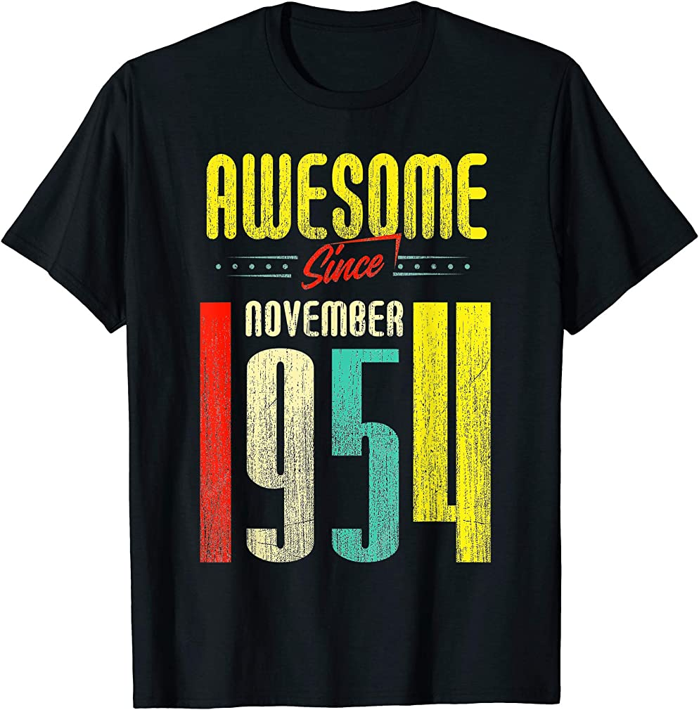 Born November 1954 65th Birthday Awesome Since November 1954 T-shirt