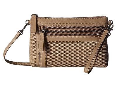 Frye Lena Perf Wristlet Crossbody (Taupe) Handbags