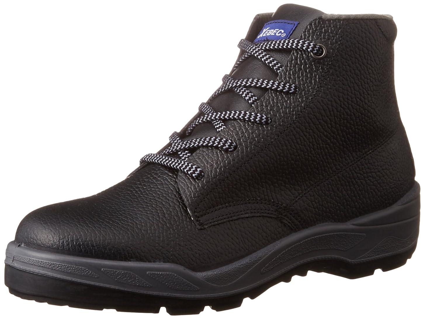反応する過度の空港安全靴 85022 JIS適合品 中編上 メンズ クロ 25.5 cm
