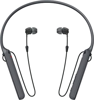 Sony Wireless Behind-Neck Headset w/Earbuds - Black - WI-C400 (Renewed)
