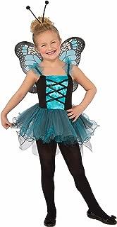 (Medium, Blue) - Forum Novelties Kids Fluttery Blue Butterfly Costume, Blue, Medium