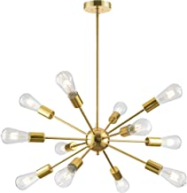 Loclgpm Modern Gold Sputnik Chandelier, 12 Light Metal Pendant Lighting, Ceiling Light Fixture for Living Room, Dining Roo...