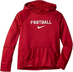 Therma Pullover Hoodie Football (Big Kids)