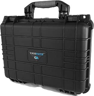 CASEMATIX Waterproof Marine Electronics and Accessory FishFinder Case Fits Garmin Striker , Hummingbird Helix , Lowrance , Raymarine , Simrad and More GPS Imaging Chartplotter Fish Finders