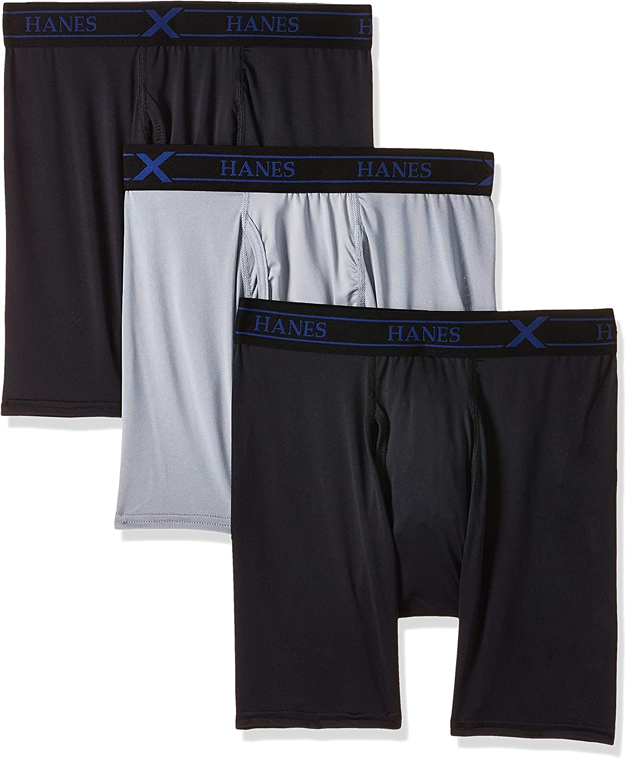 Hanes Ultimate Men's 3-Pack X-Temp Stretch Bri Boxer Performance お求めやすく価格改定 未使用品