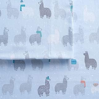 Cuddl Duds Twin Size Flannel Sheet Set (Llamas)