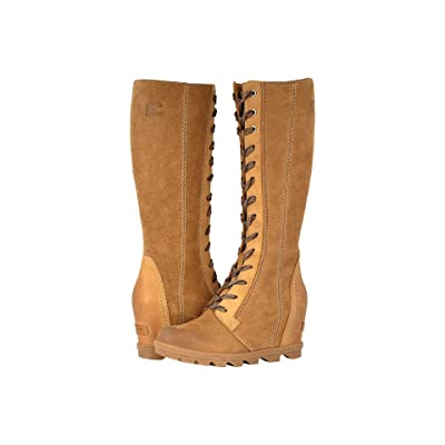 SOREL Joan of Arctictm Wedge II Tall (Camel Brown Full Grain Leather/Oiled Suede) Women