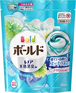 ボールド 洗濯洗剤 ジェルボール3D 爽やかプレミアムクリーンの香り 詰め替え 18個入