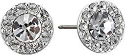LAUREN Ralph Lauren - Small Round Pave Stud Pierced Earrings