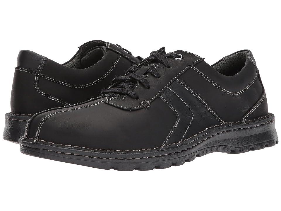 Clarks Vanek Walk (Black Leather) Men