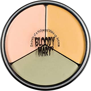 Bloody Mary Tri Color Wheel Monster Makeup Cream - Death Pale, Flesh and Vampire Gray for Theater, Costume or Halloween Zombie and Monster Dress Up - 1.3oz
