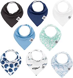 Parker Baby Bandana Drool Bibs – 8 Pack Baby Bibs for Boys, Girls, Unisex -Arctic Set