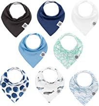 "Parker Baby Bandana Drool Bibs – 8 Pack Baby Bibs for Boys, Girls, Unisex -""Arctic Set"""