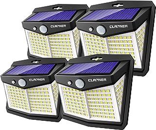 Claoner Lampe Solaire Extérieur Puissant【128 LED Lot de 4】Lumière Solaire Eclairage Exterieur IP65 Etanche Lampe Solaire a...