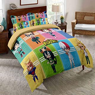Details about  /Anime Quilted Bedspread /& Pillow Shams Set Japanese Cartoon Comic Print