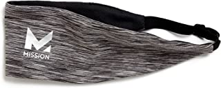 Mission VaporActive Cooling Lockdown Headband, Charcoal Space Dye, One Size