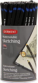 Derwent 34344 Watersoluble Sketching Pencils, Set of 72, Includes 3 Shades (HB, 4B, 8B), Professional Quality, 34344