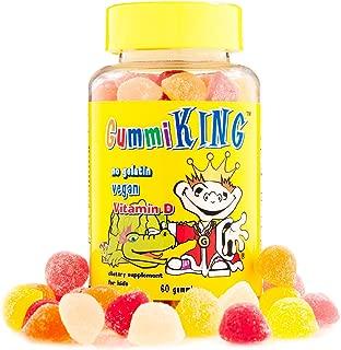Gummi King Vitamin-D Supplement, Strawberry/Lemon/Orange/Grape/Cherry/Grapefruit, 60 Count
